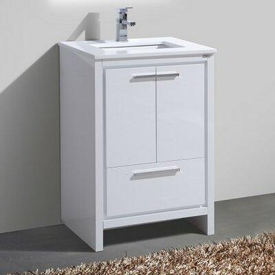 Bosley 24 Modern Bathroom Vanity Base Finish: High Gloss White