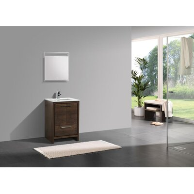 Bosley 24 Modern Bathroom Vanity Base Finish: Rose Wood