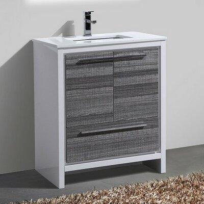 Bosley 30 Modern Bathroom Vanity Finish: Ash Gray