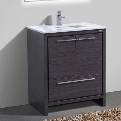 Bosley 30 Modern Bathroom Vanity Finish: Gray Oak