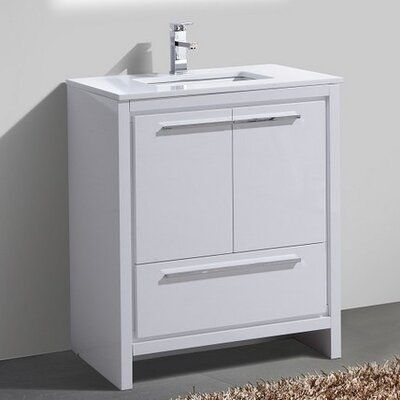 Bosley 30 Modern Bathroom Vanity Finish: High Gloss White