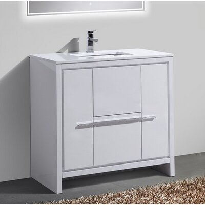 Bosley 36 Modern Bathroom Vanity Finish: High Gloss White