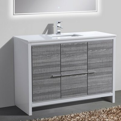 Bosley 48 Single Sink Modern Bathroom Vanity Finish: Ash Gray