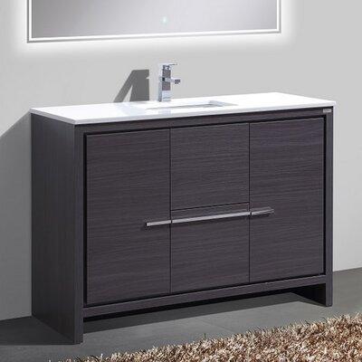 Bosley 48 Single Sink Modern Bathroom Vanity Finish: Gray Oak