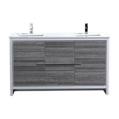 Bosley 60 Double Modern Bathroom Vanity Set
