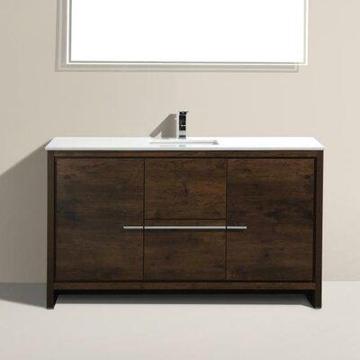 Bosley 60 Single Modern Bathroom Vanity Set