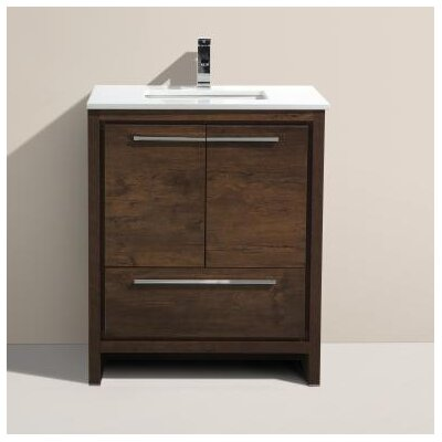 Bosley 30 Single Modern Bathroom Vanity Set