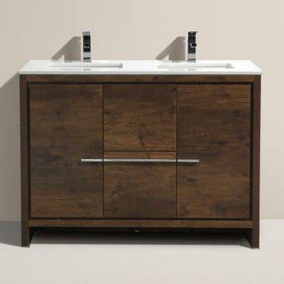 Bosley 48 Double Modern Bathroom Vanity Set
