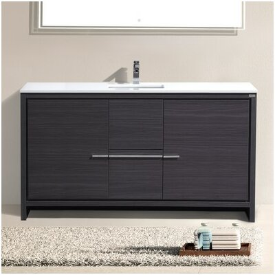 Bosley 60 Single Modern Bathroom Vanity Set