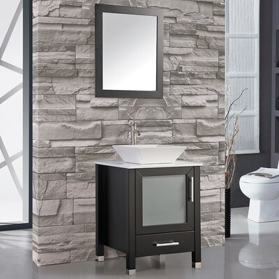 Bosarge 24 Single Sink Bathroom Vanity Set with Mirror