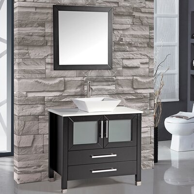 Bosarge 36 Single Sink Bathroom Vanity Set with Mirror