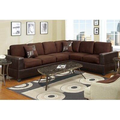 Bosque Sectional Upholstery: Dark Brown