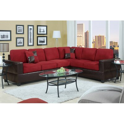 Bosque Modular Sectional Upholstery: Red