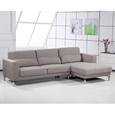 Bosse Sectional Upholstery: Brown, Orientation: Right Arm Facing