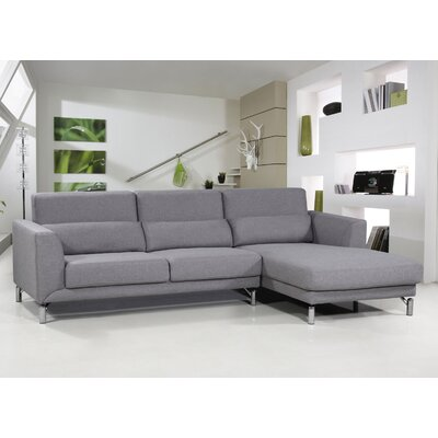 Bosse Sectional Upholstery: Grey, Orientation: Right Arm Facing