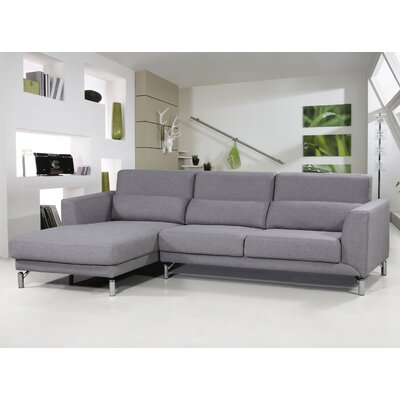 Bosse Sectional Upholstery: Grey, Orientation: Left Arm Facing