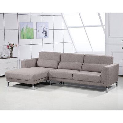 Bosse Sectional Upholstery: Brown, Orientation: Left Arm Facing