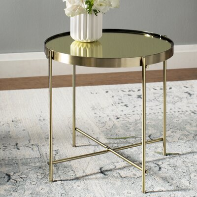 Blalock End Table Color: Brass