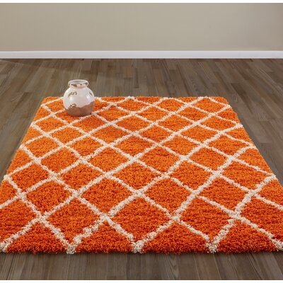 Bostrom Orange Area Rug Rug Size: 5 x 7