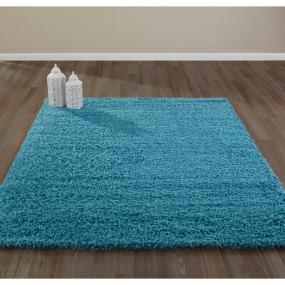 Bostrom Shag Blue Area Rug Rug Size: Rectangle 8 x 10