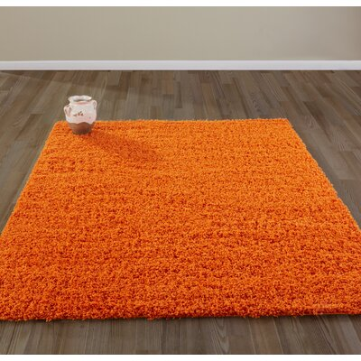 Bostrom Shag Orange Area Rug Rug Size: Rectangle 8 x 10