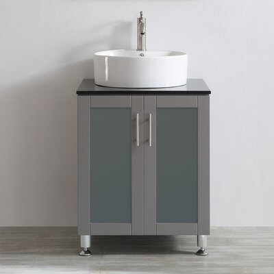 Boswell 24 Single Vanity Set Base Finish: Grey