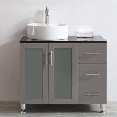 Boswell 36 Single Vanity Set Base Finish: Grey