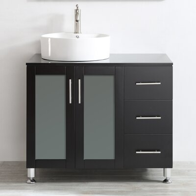 Boswell 36 Single Vanity Set Base Finish: Espresso