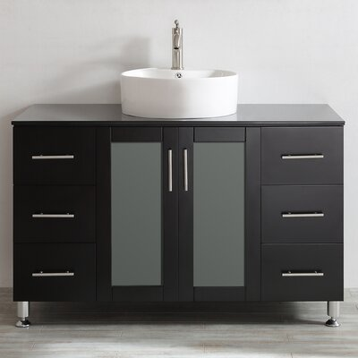 Boswell 48 Single Vanity Set Base Finish: Espresso