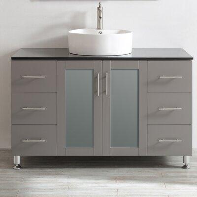 Boswell 48 Single Vanity Set Base Finish: Grey