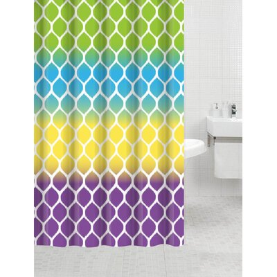 Coaxum Bamboo Flat Shower Curtain Color: River View Green
