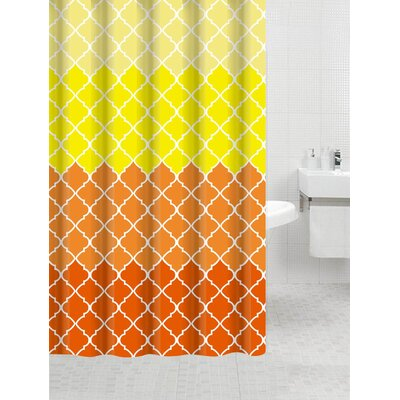 Nakasi Flat Shower Curtain Color: Geneva Yellow
