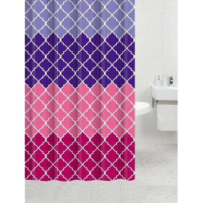 Cobbs Bamboo Flat Shower Curtain Color: Geneva Purple