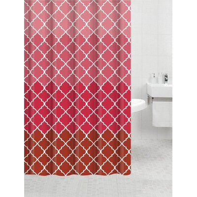 Nakasi Flat Shower Curtain Color: Geneva Red