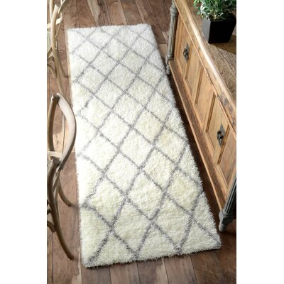Bronson Off-White Area Rug Rug Size: Runner 28 x 8