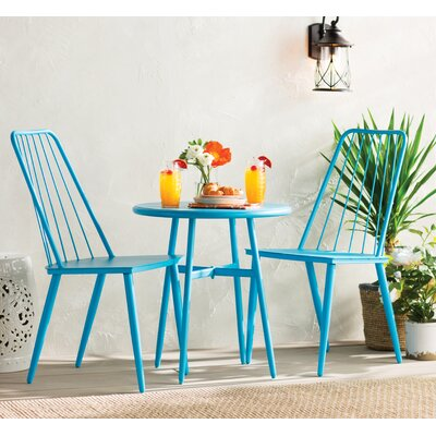 Bainbridge Cottage 3 Piece Bistro Dining Set Finish: Blue