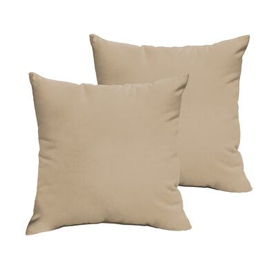 Branan Square Knife Edge Indoor/Outdoor Throw Pillow Color: Beige, Size: 22 H x 22 W x 6 D