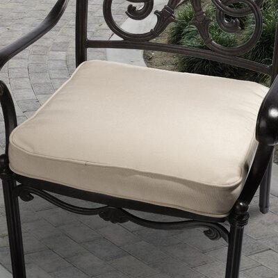 Outdoor Dining Chair Cushion Fabric: Ivory