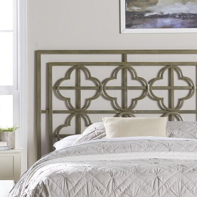 Ladson Open-Frame Headboard Size: Twin, Finish: French Silver