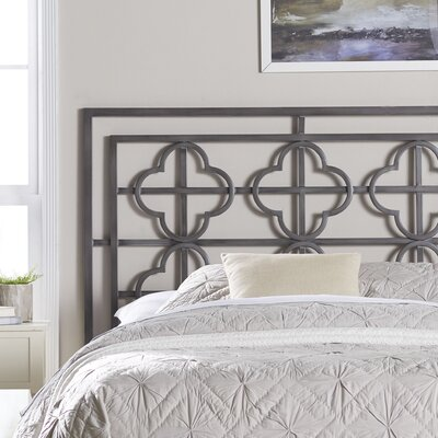 Ladson Open-Frame Headboard Size: Full, Finish: Antique Iron