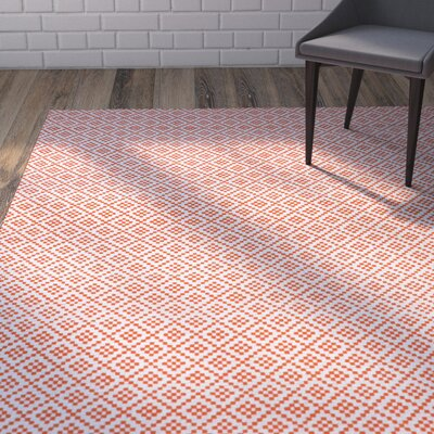 Malbrough Hand-Woven Orange Area Rug