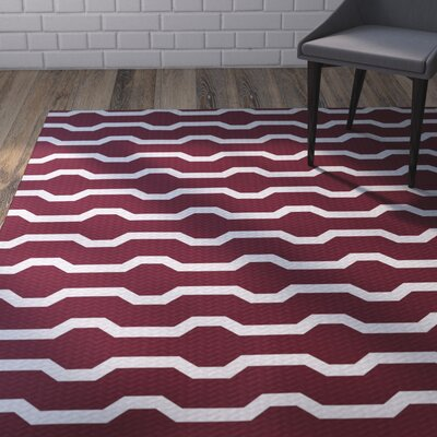 Uresti Decorative Holiday Geometric Print Indoor/Outdoor Rug Cranberry Burgundy Indoor/Outdoor Area Rug Rug Size: 2 x 3