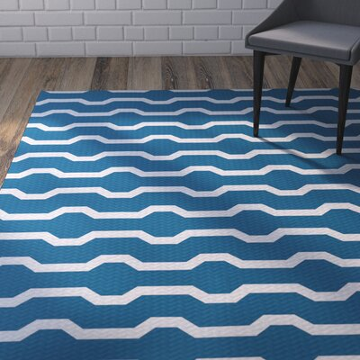Uresti Decorative Holiday Geometric Print Turquoise Woven Indoor/Outdoor Area Rug Rug Size: 4 x 6