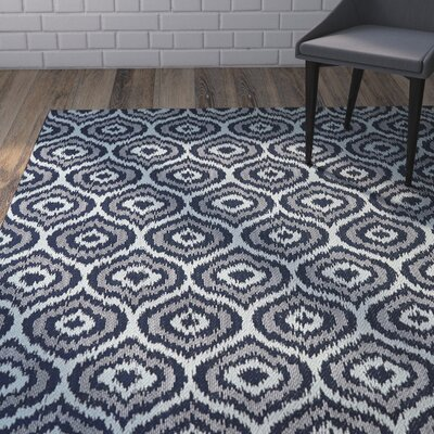 Aker Aqua Indoor/Outdoor Area Rug Rug Size: Rectangle 53 x 76