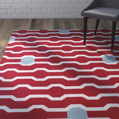 Uresti Decorative Holiday Geometric Print Red Indoor/Outdoor Area Rug Rug Size: 4 x 6