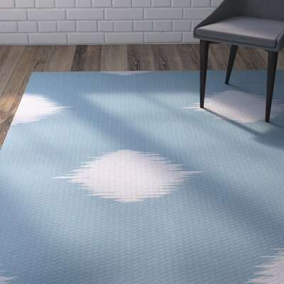 Urbina Decorative Holiday Ikat Print Light Blue Indoor/Outdoor Area Rug Rug Size: 4 x 6