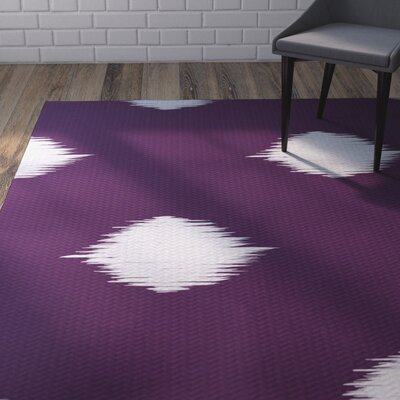 Urbina Decorative Holiday Ikat Print Purple Indoor/Outdoor Area Rug Rug Size: 3 x 5