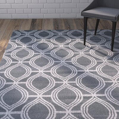 Slater 3 Piece Grey Area Rug Set
