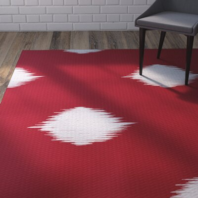 Urbina Decorative Holiday Ikat Print Red Indoor/Outdoor Area Rug Rug Size: 2 x 3