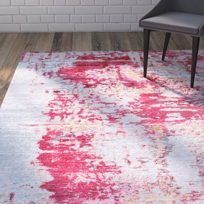Daye Red Area Rug Rug Size: 53 x 77